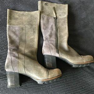 Sorel Addington Tall boot block heel 8 suede